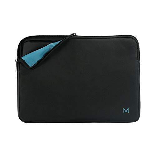 Mobilis Housse Écologique pour PC Portable 12.5'-14', Pochette Ordinateur Fabriquée de Matériaux Recyclés (GRS), Noir/Bleu