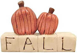 Fall Block Letters Pumpkins Resin Sign Country Primitive Harvest Décor