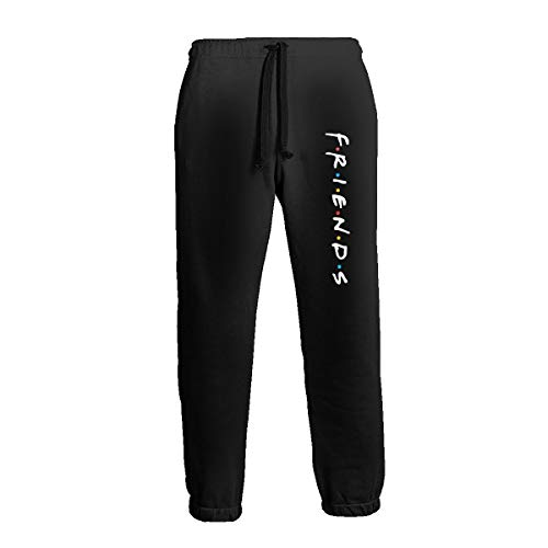 Ripepin Friends 3D Graphic Workout Running Baggy Pants Trousers, Mens Sweatpants with Pockets White