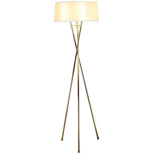 CLJ-LJ Lámpara de pie simple lámpara creativa moderna salón dormitorio mesita de noche tela de personalidad elegante lámpara lámpara lámpara – Plano