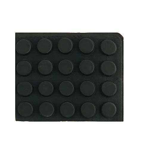 Pied caoutchouc 6pcs tampon protecteur bureau rondelle métallique D31x24xH18mm