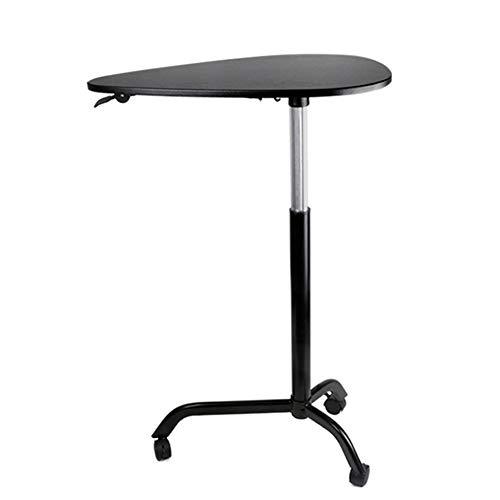 JRPT Stehpult pult Einstellbare 39Cm,Rednerpult Tropfenform,Welcome Desk Mdf Bewegungsfreiheit Einfache Montage/Schwarz / 65×44×119cm