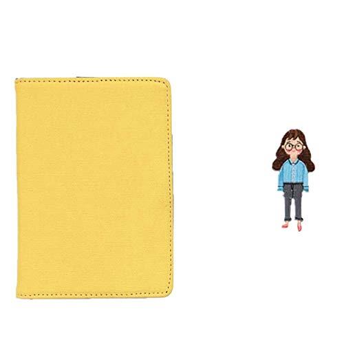 Demarkt notitieboek, harde kaft, eenvoudige stijl, reisdagboek, notitieblok, kladboek, notitieboekje 16.5*11.5cm geel