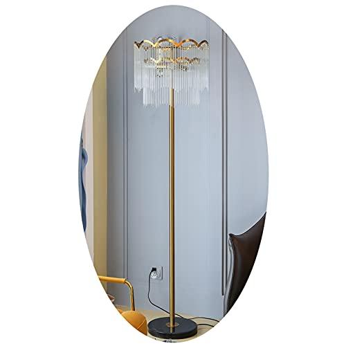 LJFLI Lámpara de pie de Cristal Oro Gota de Agua Vidrio posmoderno Mármol Ligero de Lujo Lámpara de pie de Sala de Estar de Dormitorio lámpara Vertical