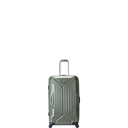Gregory Mountain Products Quadro Hardcase 30 Inch Hardsided Roller | Travel, Business, Vacation | Multi-Directional Spinner Wheels, Durable Polycarbonate Shell, Waterproof Interior Pocket, 30 Liter, Thyme Green