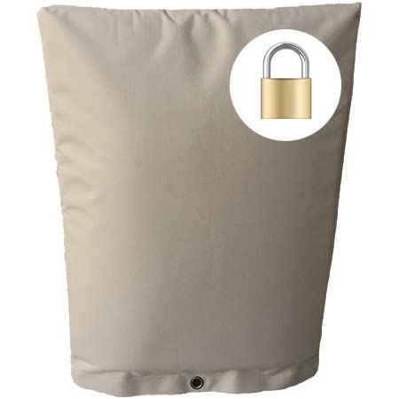 Redford Supply Pro Outdoor Backflow Preventer Insulation Cover for Winter Pipe Freeze Protection 12W x 26H, Beige Multi-use Waterproof Pouch for Water Sprinkler Valve Box Meter or Controller