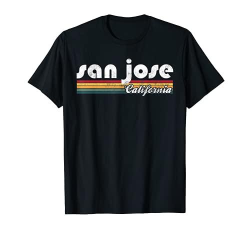 San José California Vintage 70's 80's Retro Style Gift Camiseta