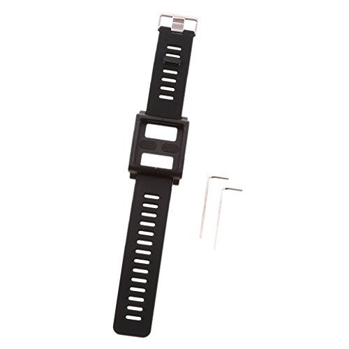 Funda de Muñeca con Banda de Reloj Pulsera de Aluminio para iPod Nano 6 6ta Generación - Negro