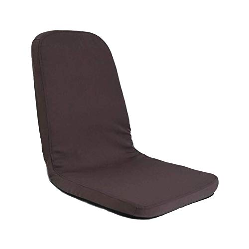 WSDSX Adjustable Floor Chair with Back Support, Comfortable Padded Foldable Seating - for Use as a Gaming Chair, Meditation Chair (Color : Brown)
