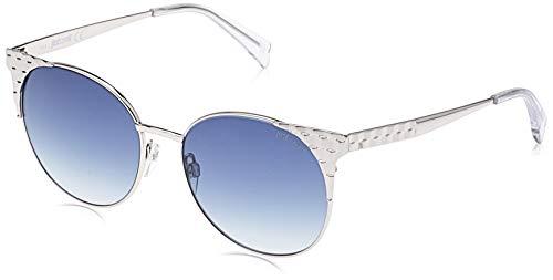 Just Cavalli Damen JC749S 16W 54 Sonnenbrille, Silber (Palladio Luc/Blu Grad)