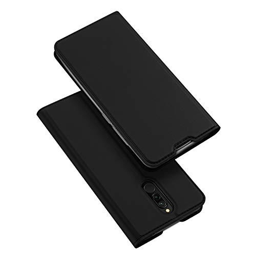 DUX DUCIS Hülle für Xiaomi Redmi 8, Leder Flip Handyhülle Schutzhülle Tasche Hülle mit [Kartenfach] [Standfunktion] [Magnetverschluss] für Xiaomi Redmi 8 (Schwarz)