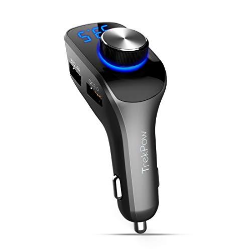 ABOX Transmetteur FM Bluetooth Voiture Main Libre...