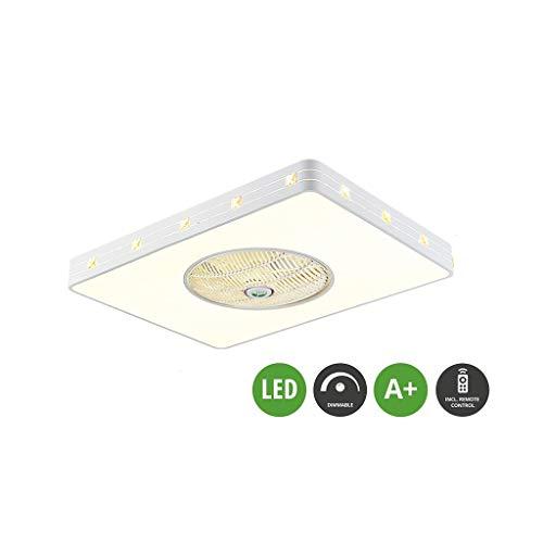 3 de velocidad ajustable El tiempo de Humos Iluminación del restaurante del dormitorio del ventilador colgante Iluminación decorativa nórdica de la sala de control del ventilador de techo a distancia