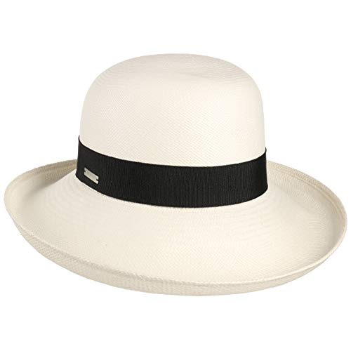 Seeberger Disuna Panamahut Damenhut Strohhut Panamastrohhut Sommerhut Sonnenhut (One Size - Natur)