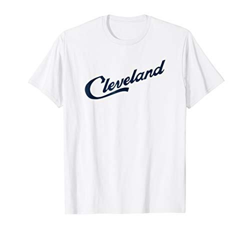 Cleveland Script Logo - Cleveland Ohio Shirt (navy blue)