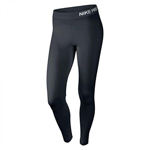 NIKE Tight Pro - Pantalones de compresión de Running para Mujer, Color Negro/Blanco, Talla L