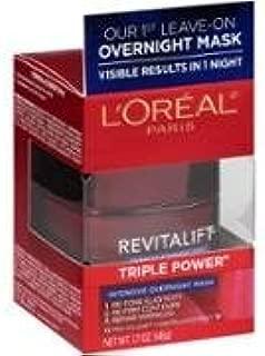 (2Pack) L'Oreal Paris Revitalift Triple Power Intensive Overnight Mask, 1.7 oz=3.4oz
