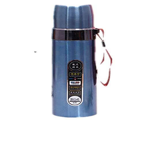 ZYLLL Travel Tragbare Wasserflaschen Doppelwandige Edelstahlflasche Thermoskanne Kaffeetassen Becher Büro Wasserflasche Blau 1 500ml