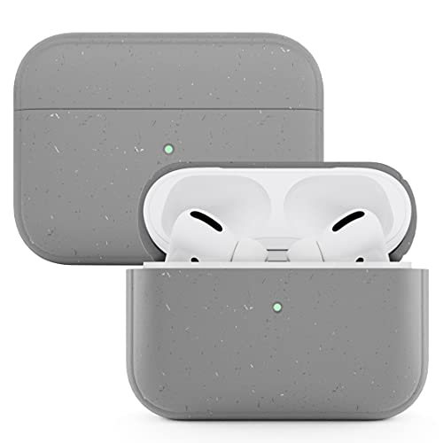 Woodcessories - Funda AirPods Pro sostenible Compatible con AirPods Pro Case, AirPods Pro Funda Antibacteriano (Gris)