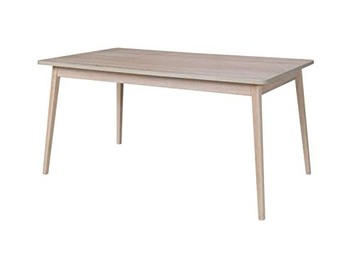 Marque Amazon - Movian - Table de repas extensible Oker, 160-200 cm, Chêne Sonoma / Blanc alpin Couleur