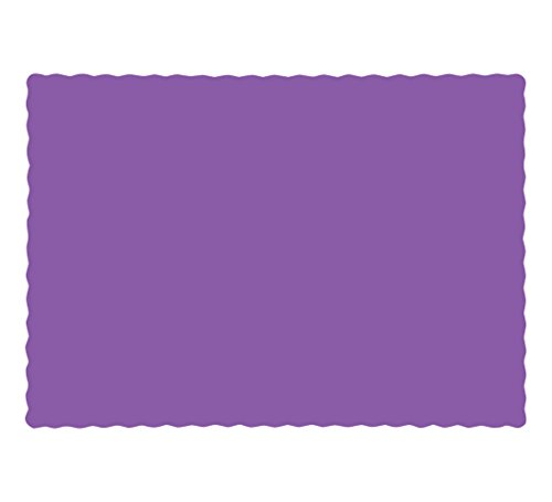 "Creative Converting Amethyst Placemat, 9.45"" x 13.25"""