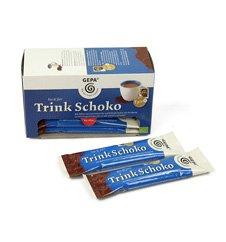 GEPA Bio und Fair Trinkschokoladen Sticks  (10 x 25g / Pack) 5er Pack