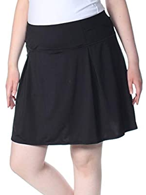 Ideology Women's Plus Size Pleated Solid Color Athletic Skort