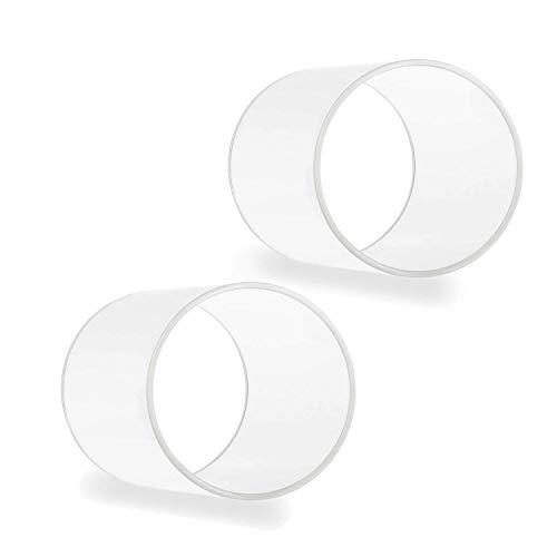 Tuuters.de 2er Set Windlichtgläser für Drinnen und Draußen | Aus Borosilikat-Glas ✓ Ideal zum Verzieren ✓ (120 x Ø 70 mm, Ohne Boden)