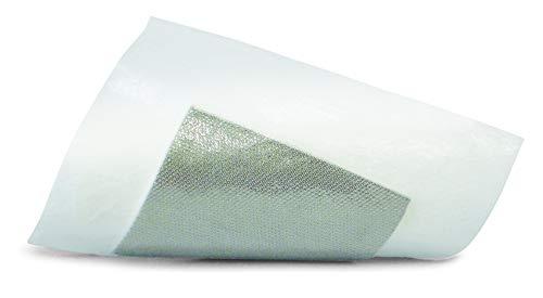 Silvermed (cm 10 x cm 10) Apósito de Plata Micronizada con Bordes Adhesivos,Ideal Para una Rápida Cicatrización. Paquete de 5 Unidades