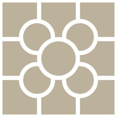 TODO-STENCIL Mini Deco Fondo 062 Baldosa Bilbao. Medidas aproximadas: Medida Exterior 12 x 12 cm Medida del diseño:9 x 9 cm