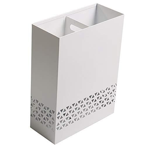 LQQ Paragüero Paragüero Ahuecado Triangular, Paragüero Cuadrado Metálico, para Pasillo De Oficina Interior (Color : White)