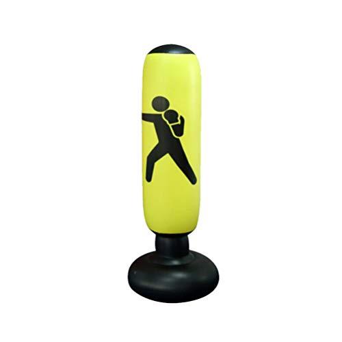 Saco de pancadas LIOOBO Fitness Inflável Saco de Areia Vertical Kickboxing Pilar Fitness Tool Boxe Coluna Tumbler Brinquedo de Descompressão para Adultos (cor aleatória)