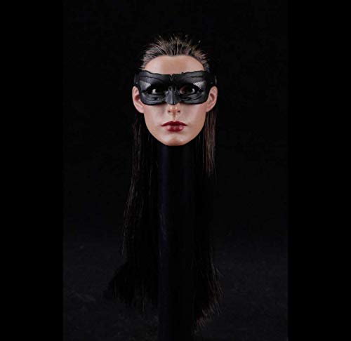 ZSMD 1:6 Scale Anne Hathaway Head Sculpt Action Figure Eye masker verwijderbare Cat Vrouwen