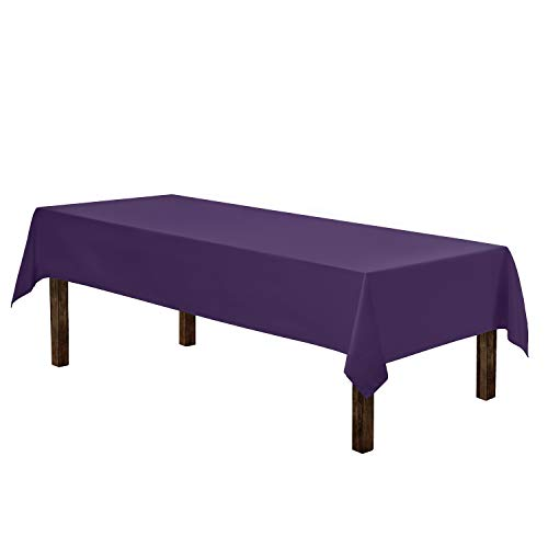 Gee Di Moda Rectangle Tablecloth - 60 x 102' Inch - Purple Rectangular Table Cloth for 6 Foot Table in Washable Polyester - Great for Buffet Table, Parties, Holiday Dinner, Wedding & More