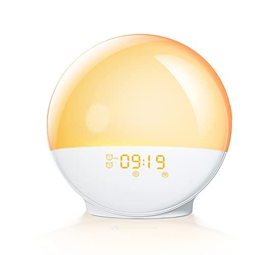 Product Image of the 【2021 Upgrade】 HeimvisionAlarm Wake Up Light Sunrise Alarm Clock for Adults...