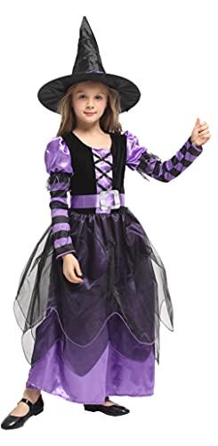 GEMVIE Disfraz de Halloween para niadisfraz de bruja El Mago de Oz Cosplay Party infantil 3-12 aos ( 4-6 aos)