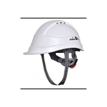 Karam Safety Helmet PN-542 SHELBLAST WITH PEAK HAVING PLASTIC CRADLE - White