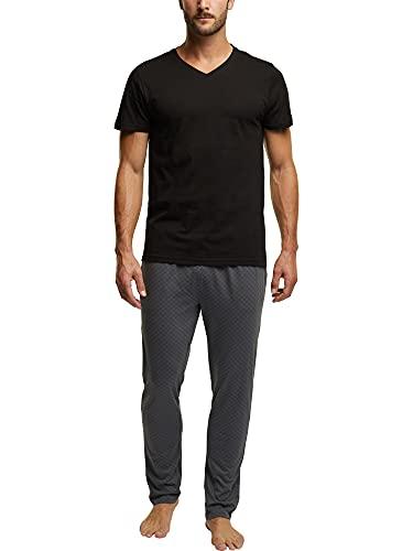 Esprit XANNDER NW OCS Pyjama Longsleeve Juego de Pijama, 001/negro, M para Hombre