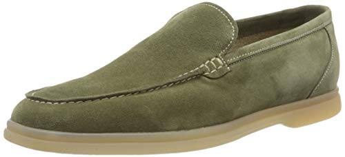 Lottusse T2438, Slip On Sneaker Hombre, Grün (Camoscio Salvia Camoscio Salvia), 43 EU