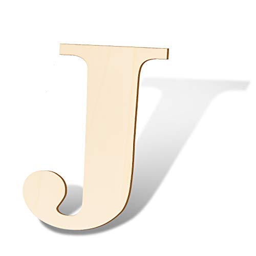 SAVITA 30cm Letras de Madera en Blanco Tablero de Letrero de Rebanadas de Madera Sin Terminar Para Decoración de Pared de Letrero del Hogar Proyectos de Artesanía de Bricolaje - J
