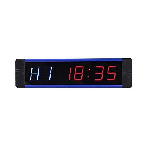 WyaengHai Countdown-Uhr Multifunktions-Intervall-Timer Große Digitaluhr Übungs-Timer Countdown-Büro Wand-Echtzeituhr-Unterstützung 12/24 Stunden-Zeitanzeige Geeignet für Fitness-Studio Fitness