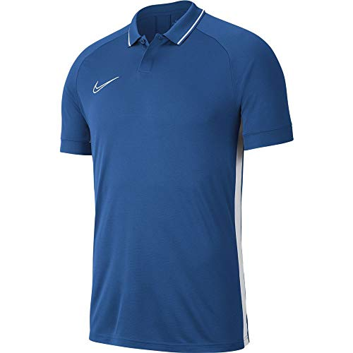 Nike Dry Academy19 Polo SS, Uomo, Marina/Marina/White/(White), M