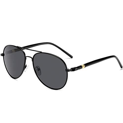 LONGRUI Gafas De Sol Polarizadas Gafas De Sol Que Cambian De Color Gafas De Sol De Aviador Clásicas Gafas De Sol Regalo para Padre,Black Frame