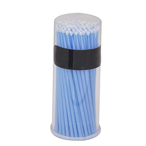 Newin Star 1box Remplacement Micro Brosses applicateurs à Usage Unique Brosses Cils Extension écouvillons Lashes Portable Lint Brosses Bleu
