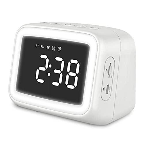 WJDNZ ESPEJO RELOJ DE DULLA DE ALARMA DE ALARMAJE DE ALARMA DE LA NOCHE Tarjeta de luz de la noche Bluetooth Altavoz de la tarjeta de altavoz Reloj de altavoz del altavoz pequeño mei