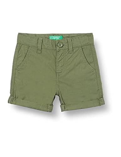 United Colors of Benetton (Z6ERJ) Bermuda 4AC759270 Pantalones Cortos, Verde Militar 07n, 2 Años Bebé-Niños