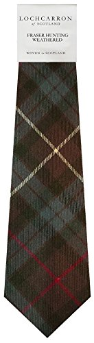 I Luv Ltd Gents Neck Tie Fraser Hunting Weathered Tartan Lightweight Scottish Clan Tie