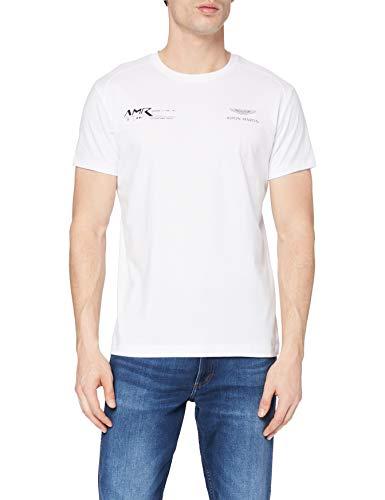 Hackett London AMR Graphic tee Camiseta, 800 Blanco, S para Hombre