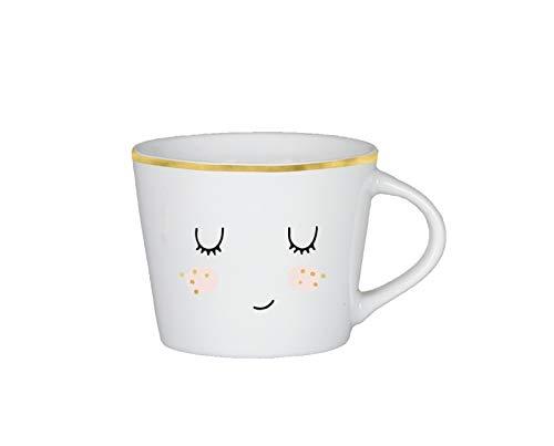 Grafik-Werkstatt Premium-Tasse, Gesicht, Espresso Tasse, Goldveredlung