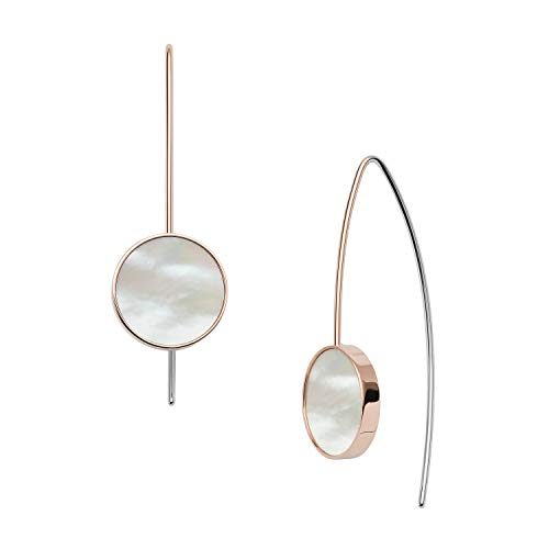 Agnethe Rose-Tone Mother-of-Pearl Hook Earrings-SKJ1249791